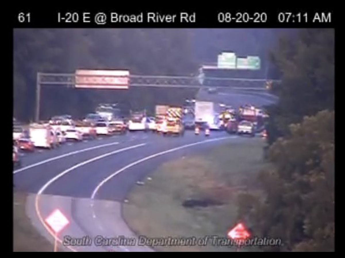 SCHP: Wrong-way driver causes crash shutting down all lanes of I-20