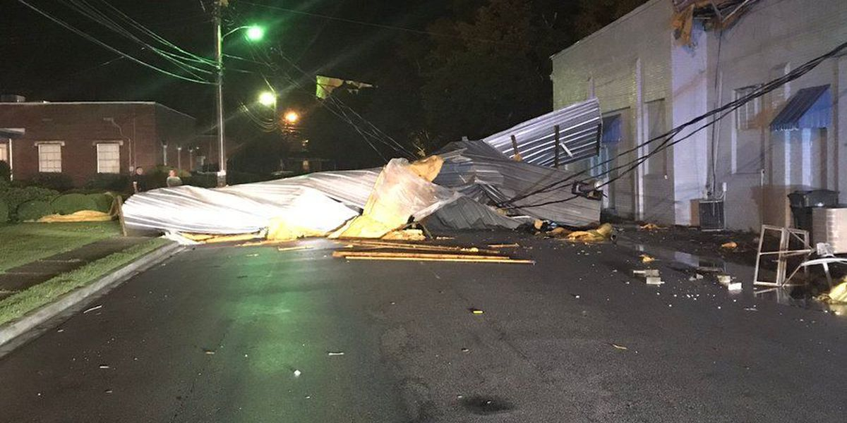 Storms leave path of damage through Midlands