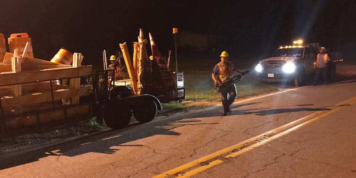 UPDATE: Calhoun County dam water levels decrease, Old Sandy Run Road reopened