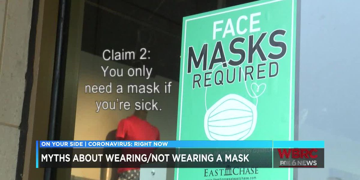 Myths about wearing or not wearing a mask
