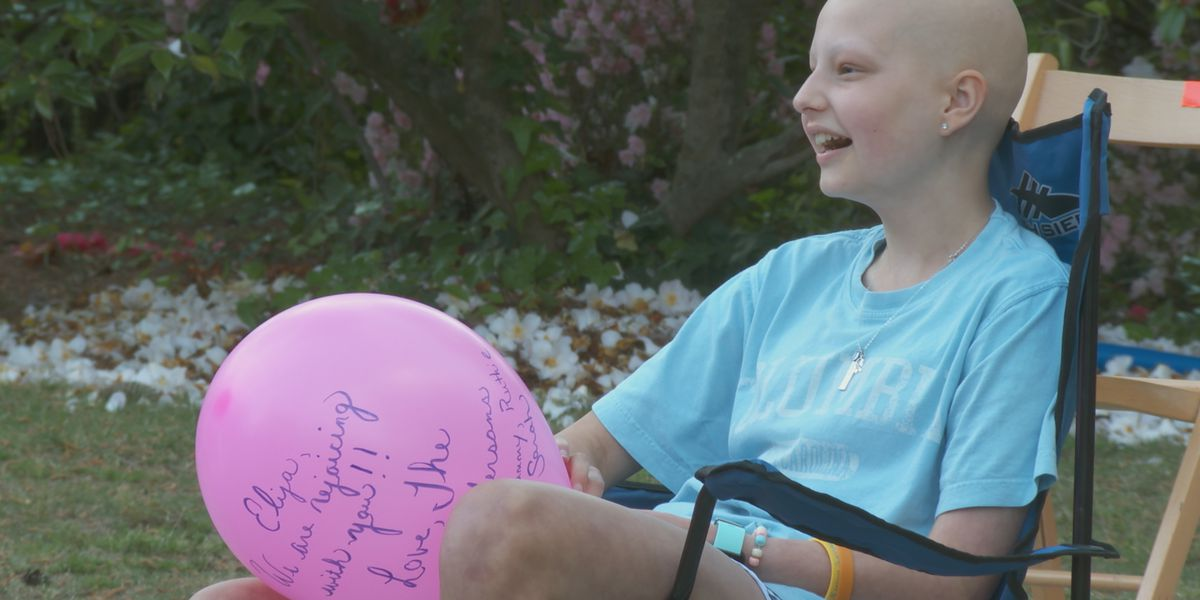 Neighbors in Columbia form parade to celebrate 13-yr-old beating cancer