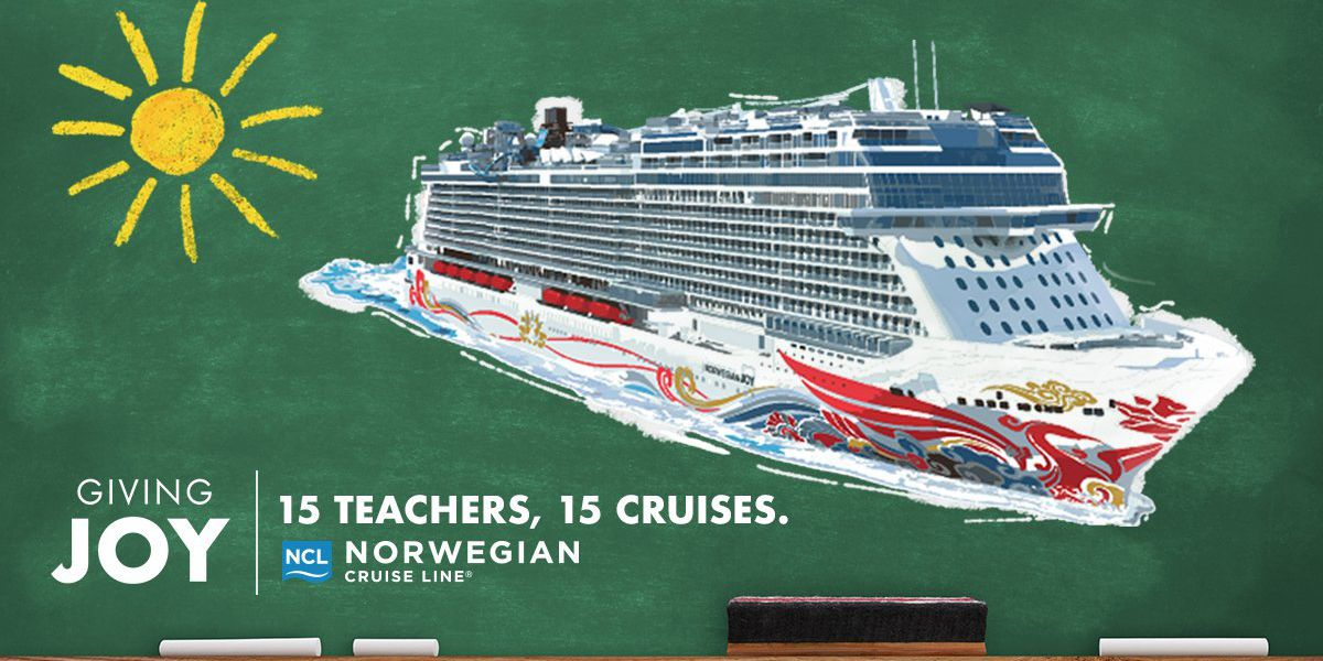 Nominate your favorite teacher to win a free Norwegian cruise, $15,000 prize for their school