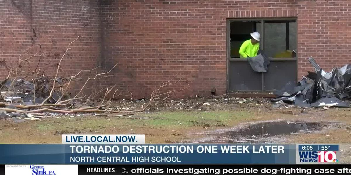 One week after an EF2 tornado destroyed their school, North Central students already adjusting