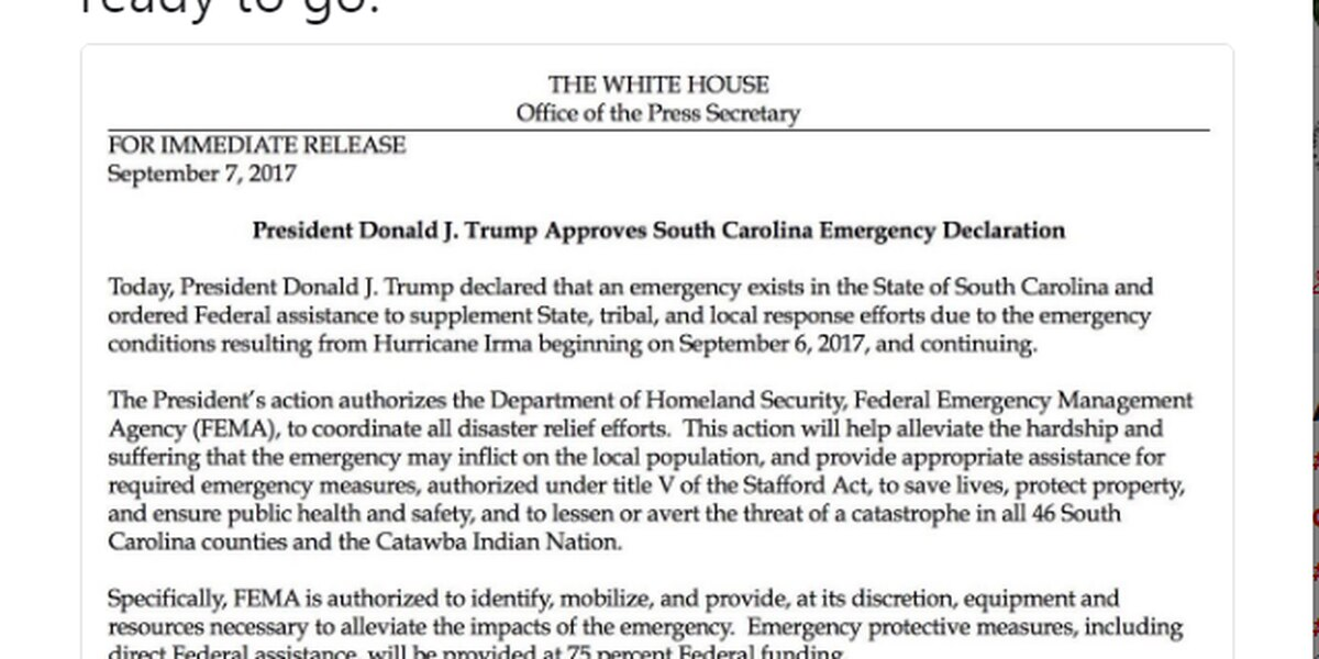 President Trump approves governor's emergency declaration ahead of Hurricane Irma's arrival