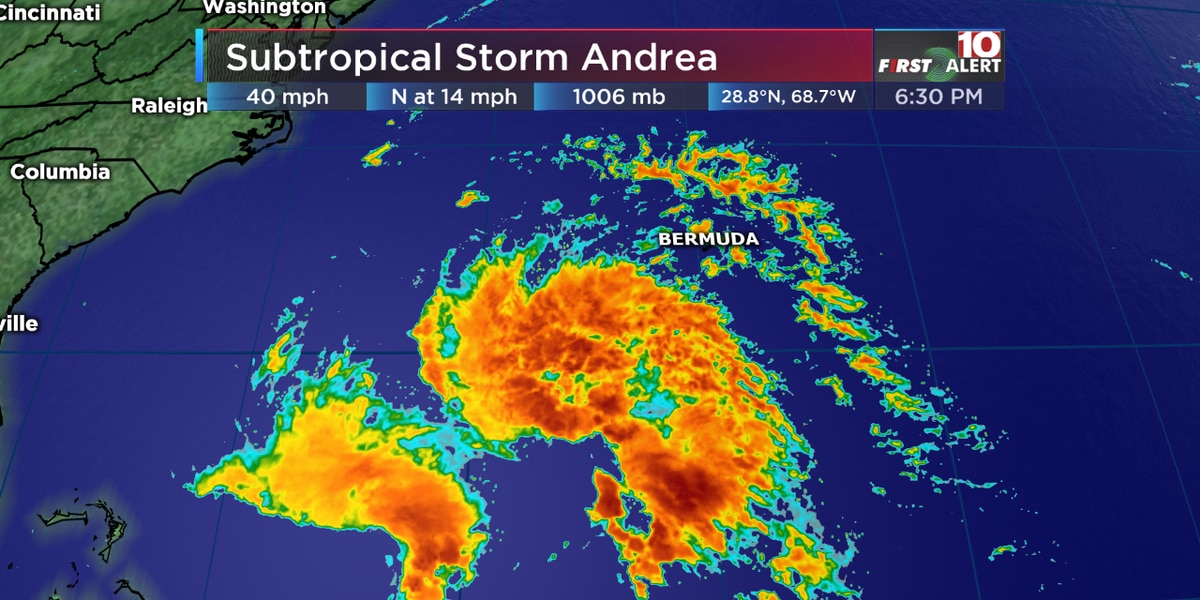 FIRST ALERT: Subtropical Storm Andrea forms in the tropics