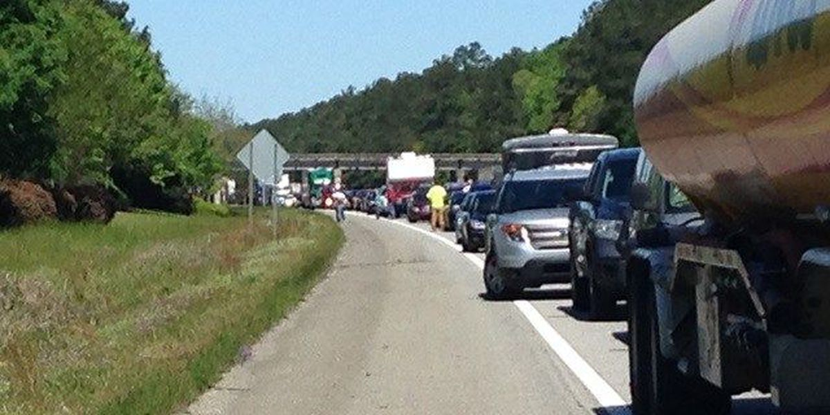 Huge traffic build-up and a vehicle fire cause delays on I-26 in Orangeburg