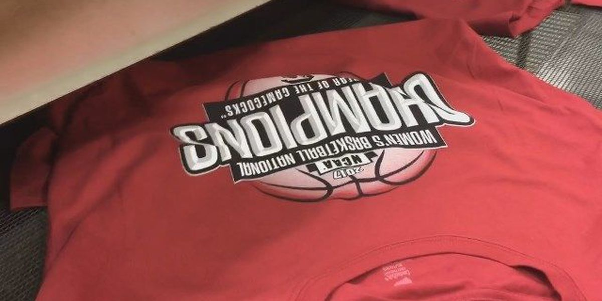 Hot Off the Presses: Company hard at work on Gamecocks title T-shirts
