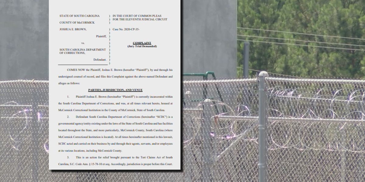 Inmate sues SC Department of Corrections following stabbing