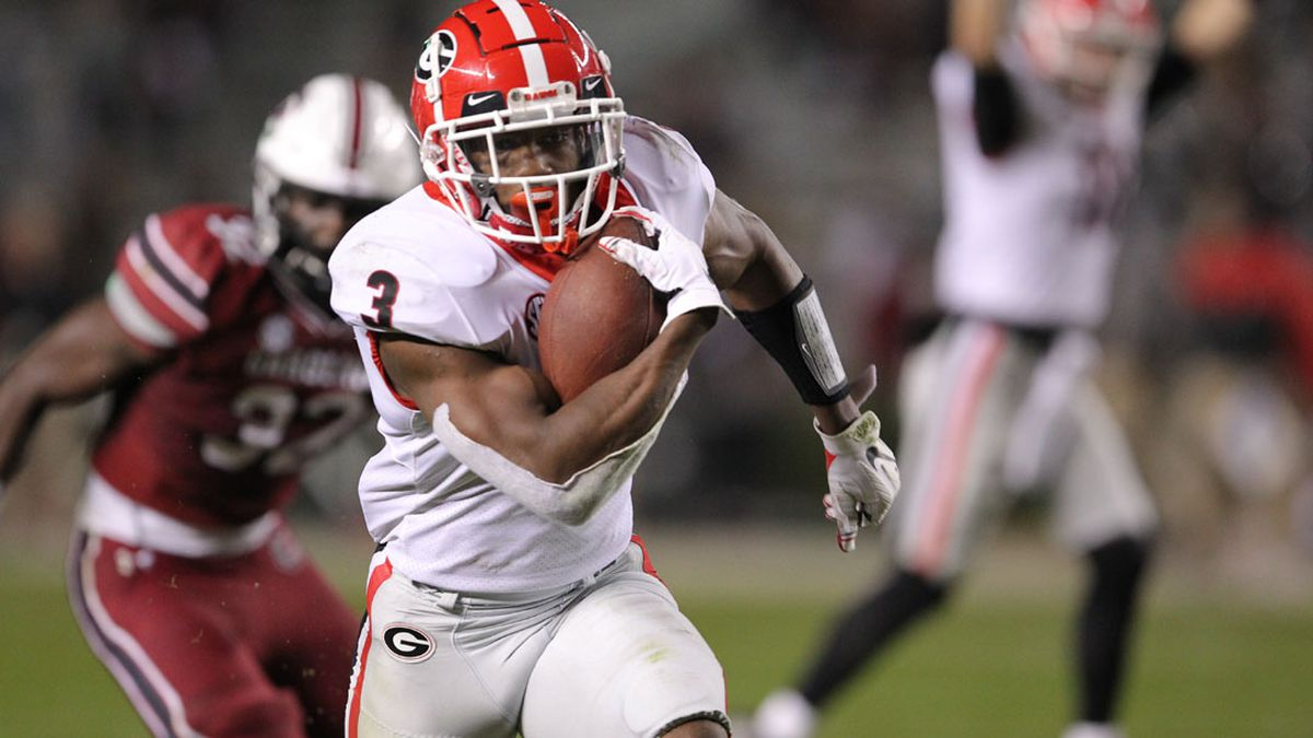 White, Cook power No. 9 Georgia past Gamecocks in 45-16 win