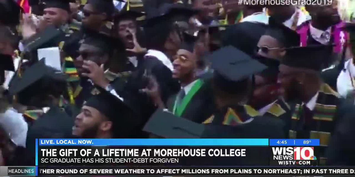 ' SC 'Morehouse man' graduates with no student debt after extraordinary gift