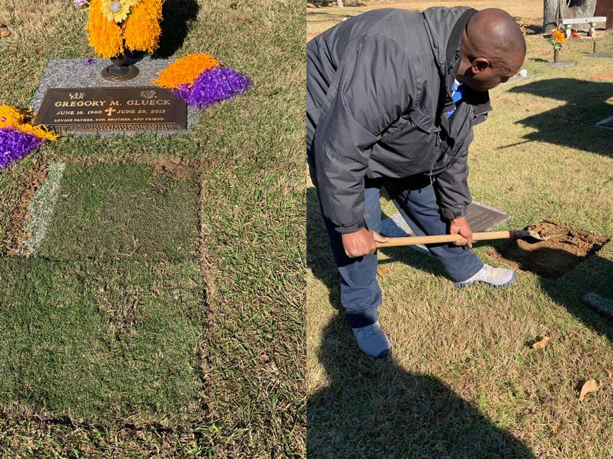 'You'd love our QB this year': LSU fan plants Tiger Stadium sod on late father's grave