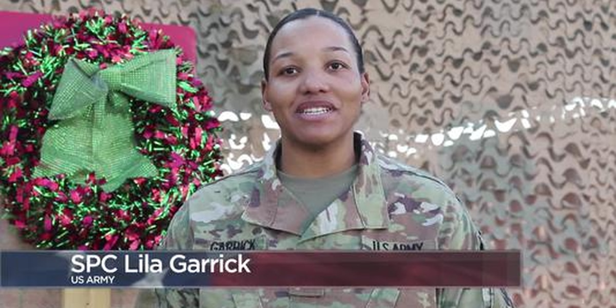 Military Greetings: Spc. Lila Garrick