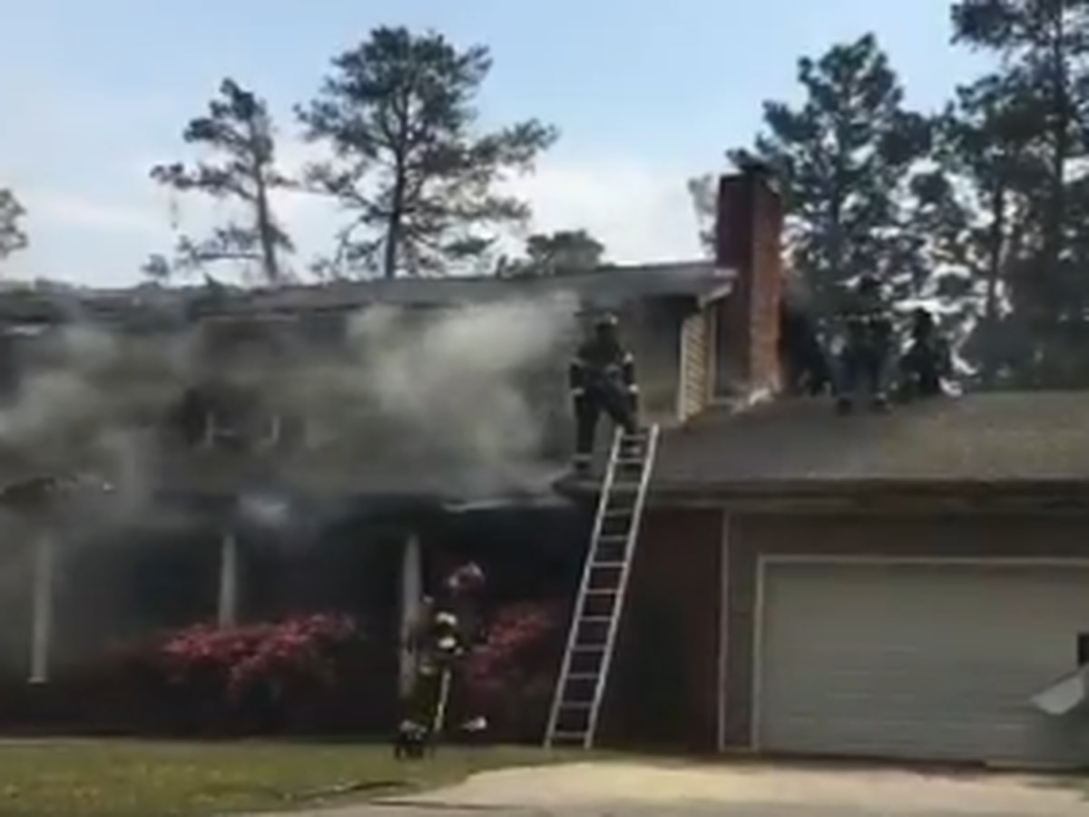 Two fire fighters taken to hospital after house fire on Crabtree Road