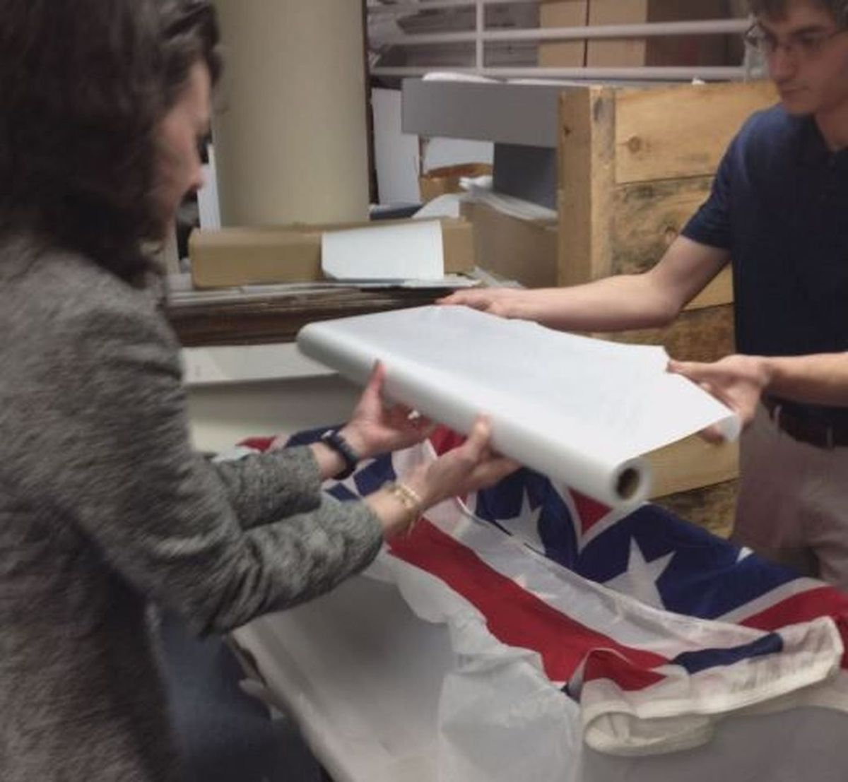 Confederate flag that once flew over SC Statehouse now on display in state's Confederate Relic Room