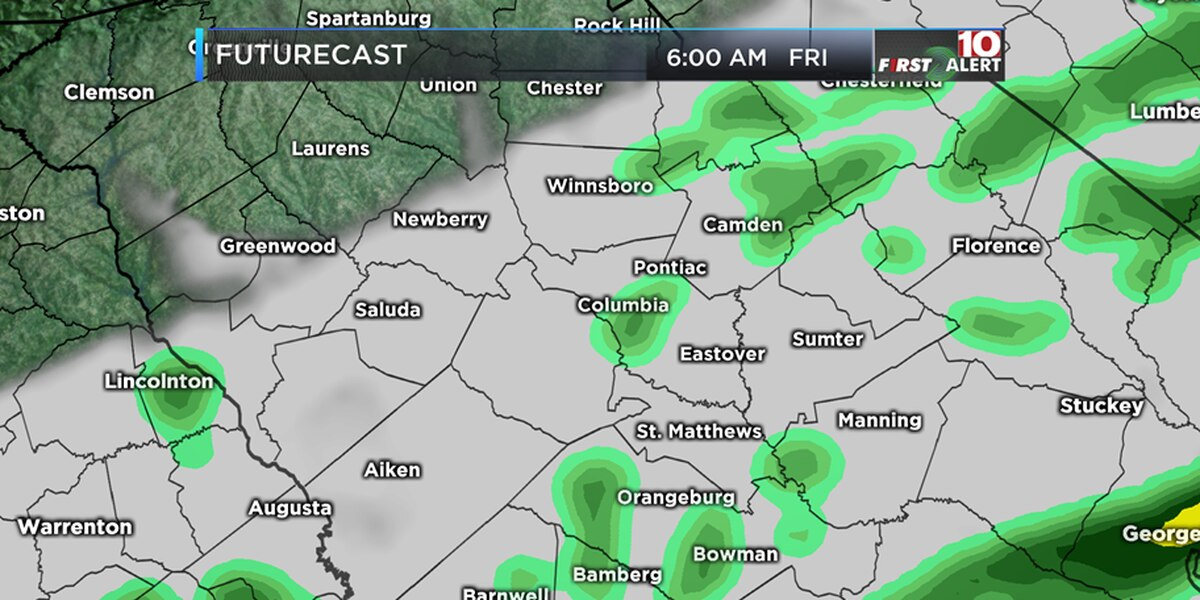 FIRST ALERT: Another wet Sunday with chance of sleet
