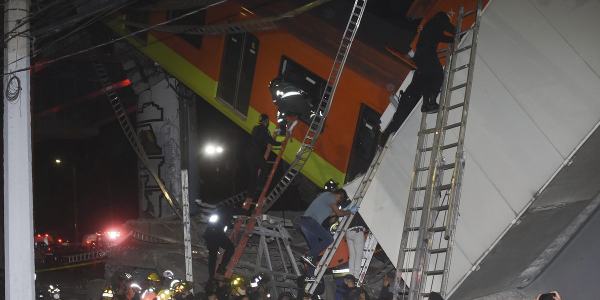 Overpass collapse on Mexico City metro kills at least 24