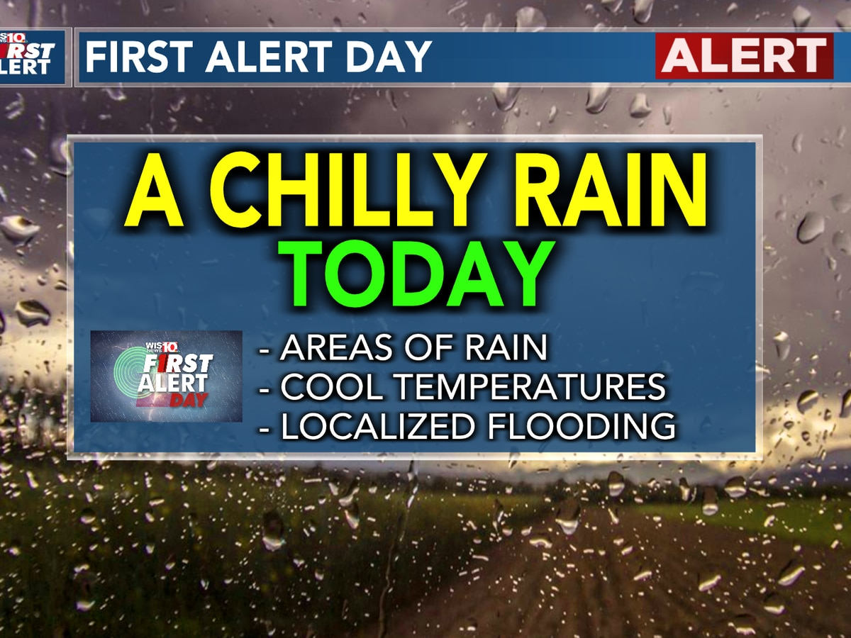 FIRST ALERT: Heavy rain and dropping temperatures today