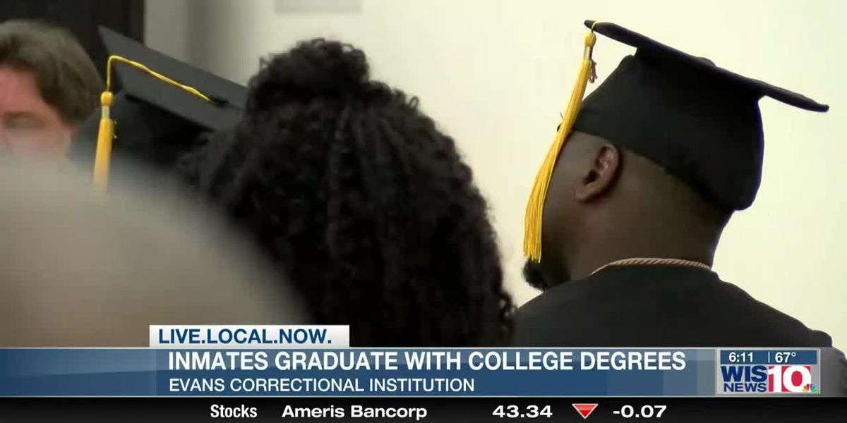 Group of inmates receive college degrees at Evans Correctional Institution