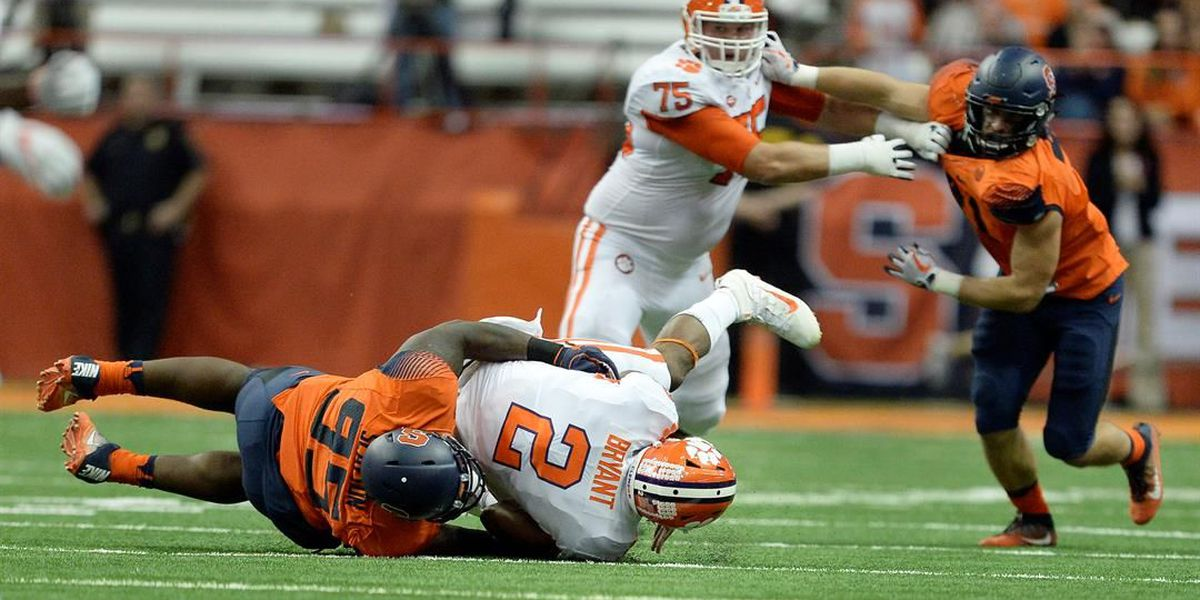 Dungey has 3 TD passes, Syracuse stuns No. 2 Clemson 27-24