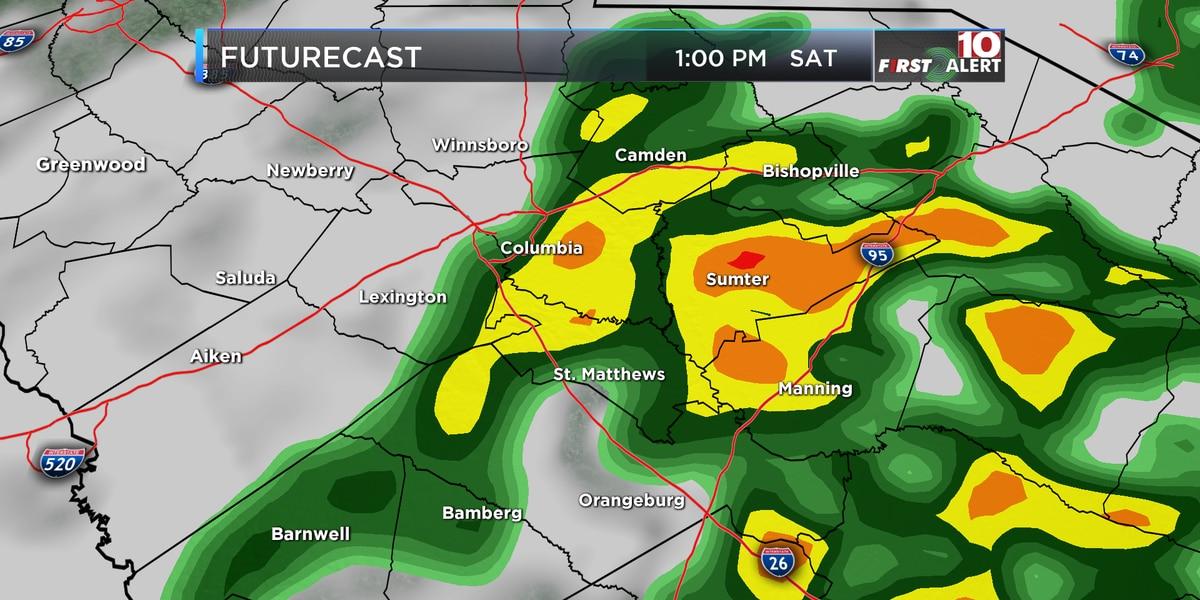FIRST ALERT: Weekend Outlook - Rain on Saturday, Sun on Sunday