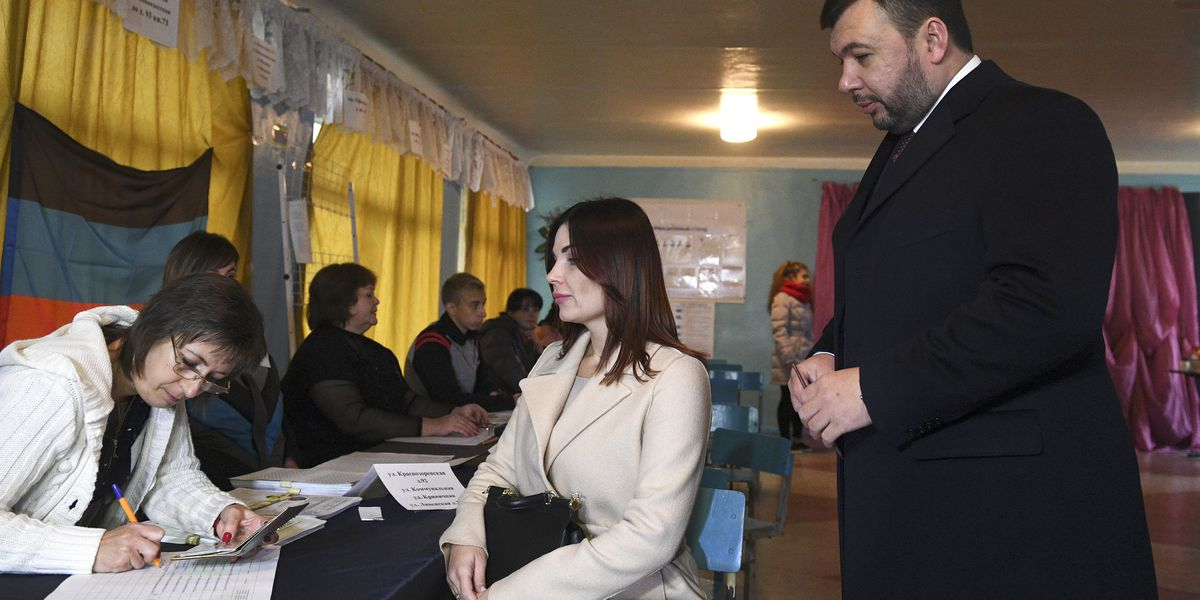 Ukraine rebel regions vote in ballot that West calls bogus