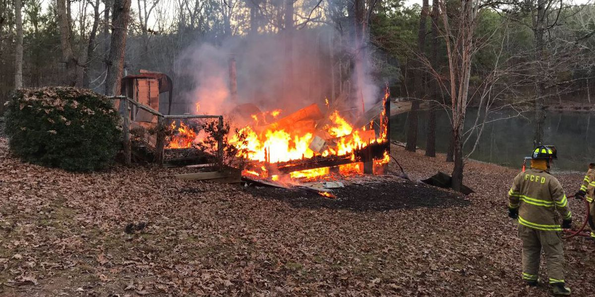 Fire destroys hunting cabin in Fairfield County