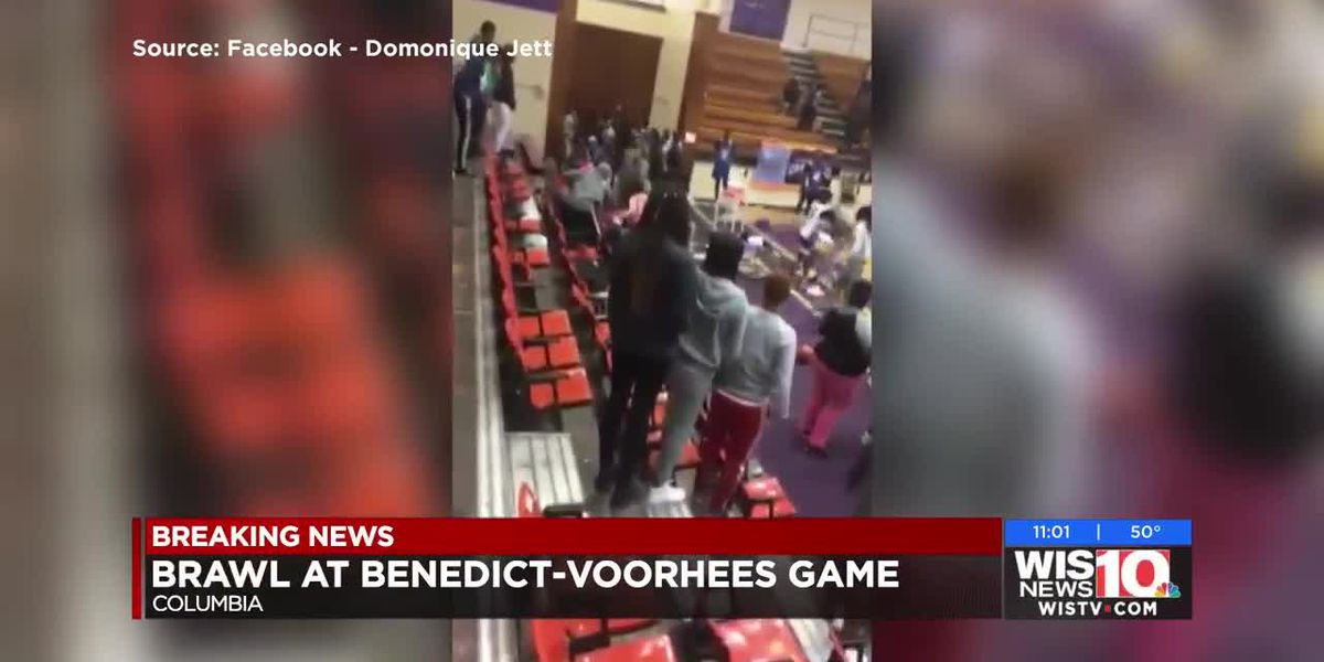 Benedict vs Voorhees pre-season basketball game turns into a brawl between fans and team members