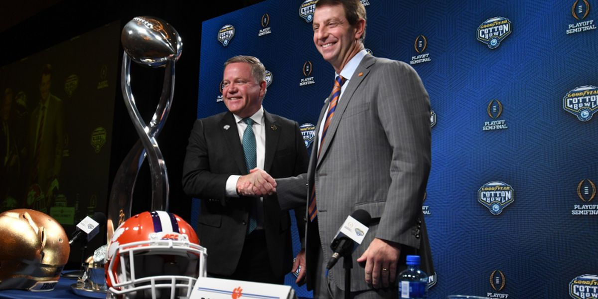 Tigers, Irish vie for spot in national championship game in Cotton Bowl
