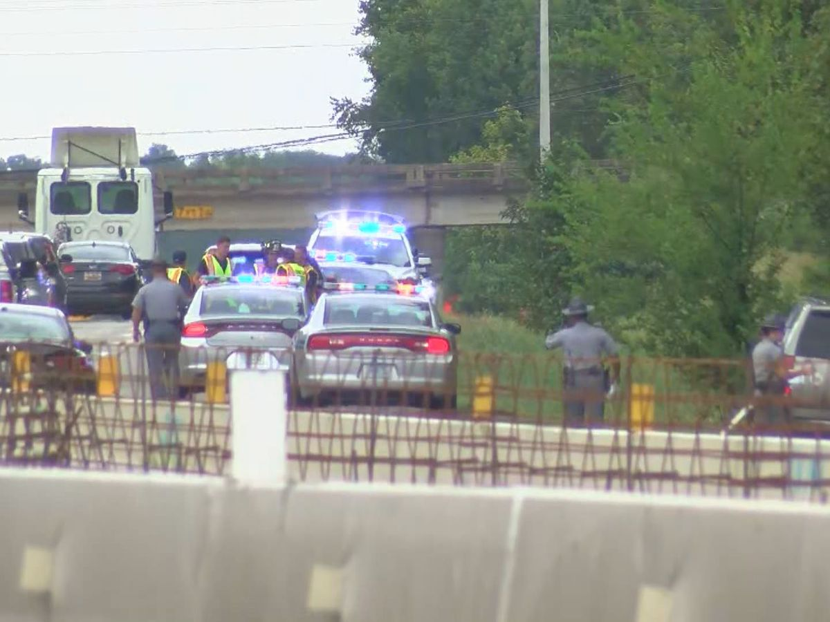 Officials: Person dies after being hit by semi on I-20 E in Lexington
