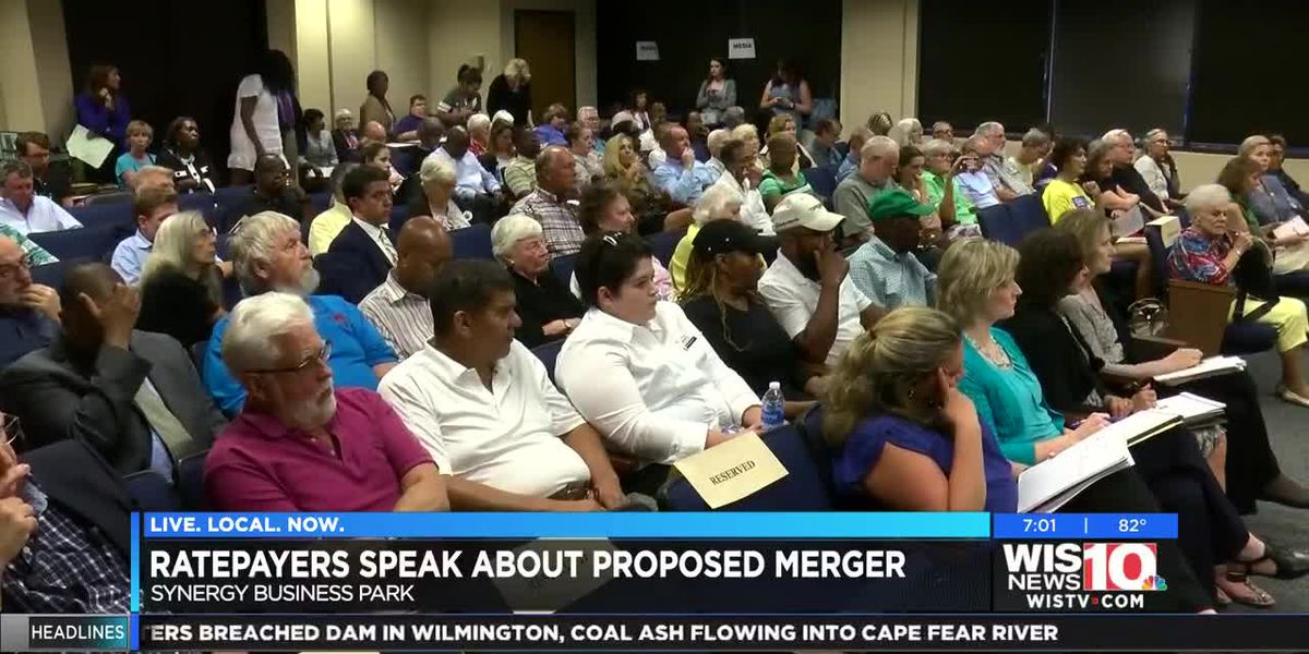 Community members voiced their concerns on the proposed merger between SCANA and Dominion Energy