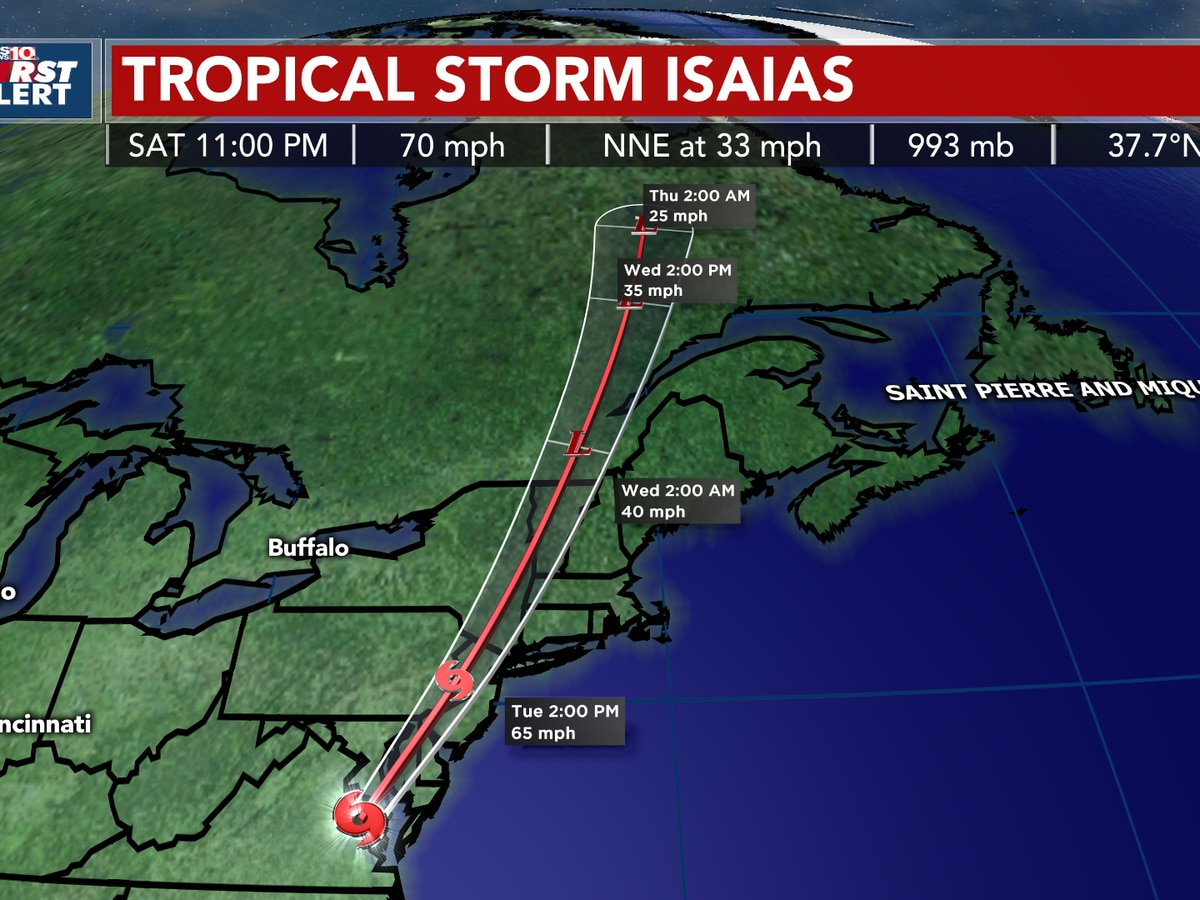TRACKING ISAIAS: Storm takes aim at the Mid-Atlantic/New England