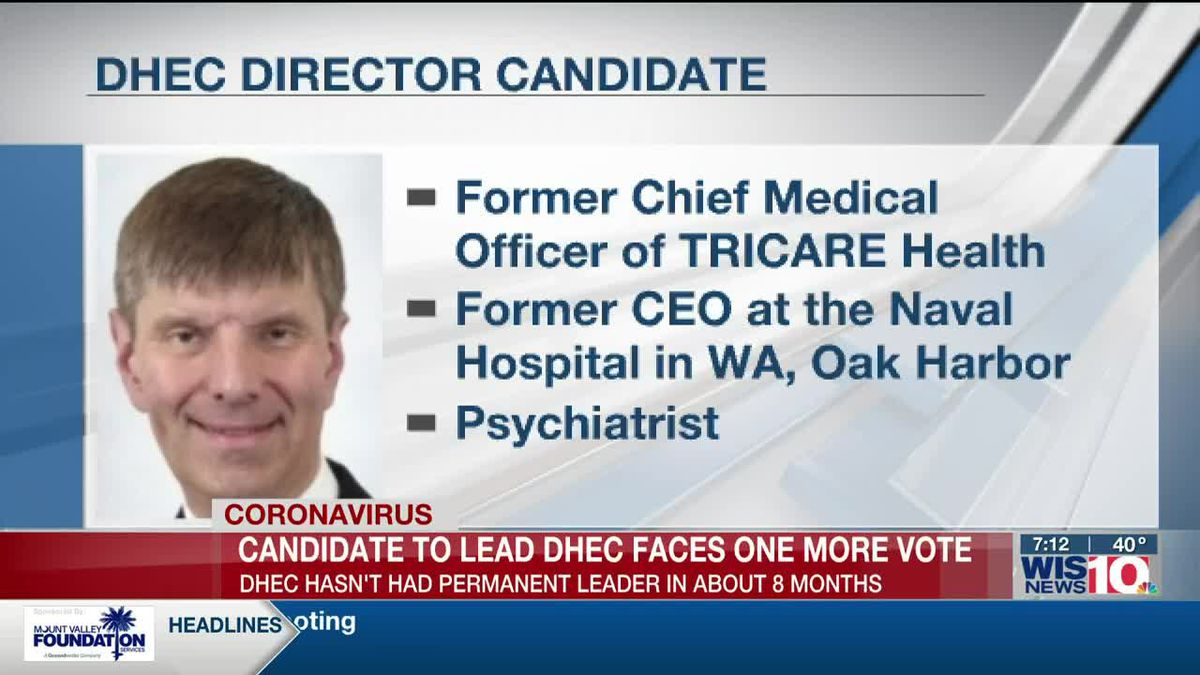 One vote stands between DHEC and new agency director