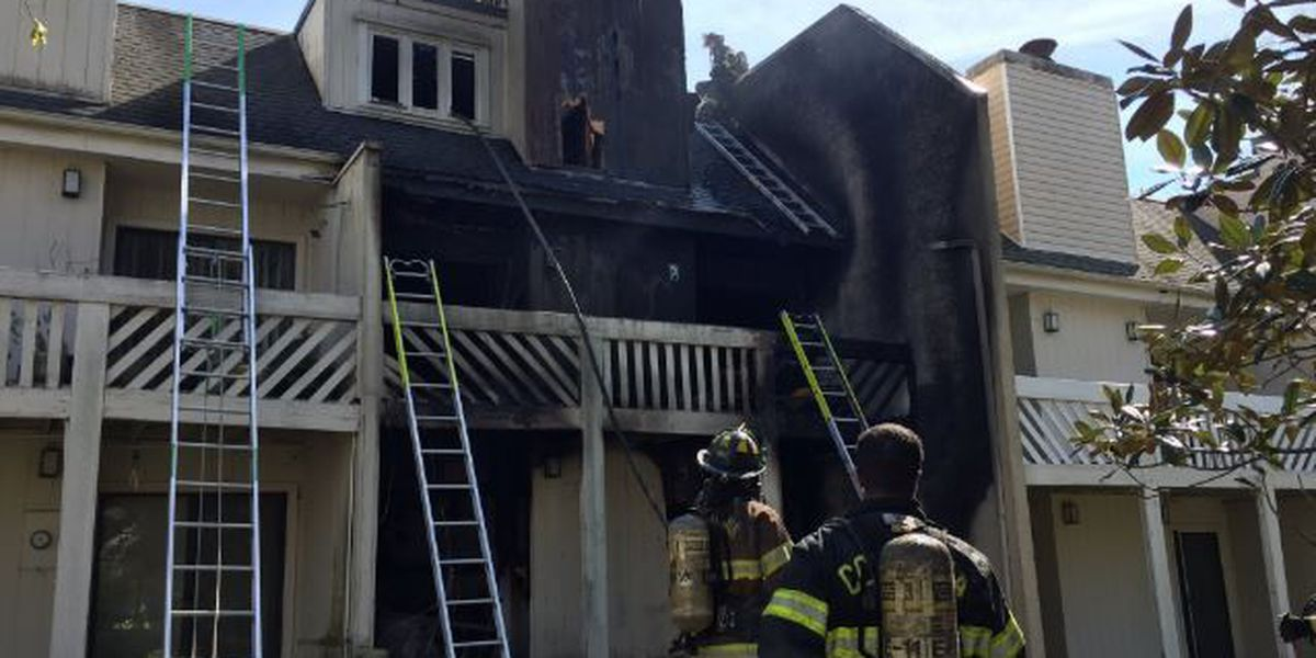 5 people displaced after condo fire