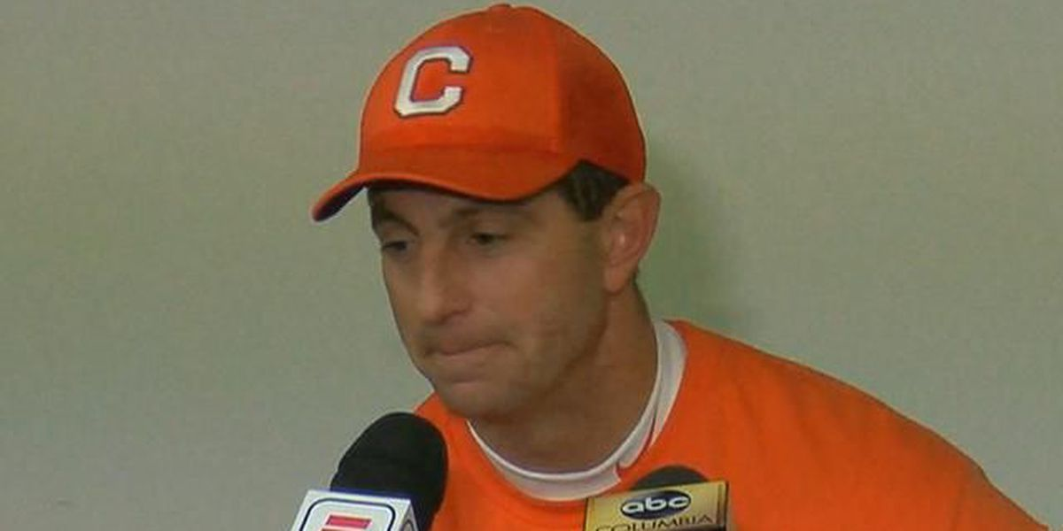 Clemson coach Dabo Swinney says fans throwing trash were 'dangerous', 'disappointing'