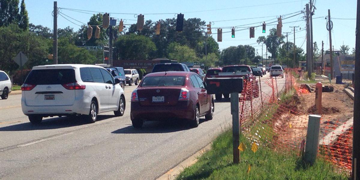 Construction forces lane closure on Sunset Boulevard in Lexington