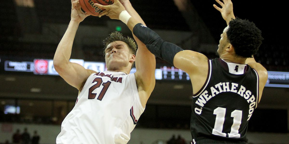 Kotsar lifts Gamecocks to OT victory over No. 14 Miss. St.