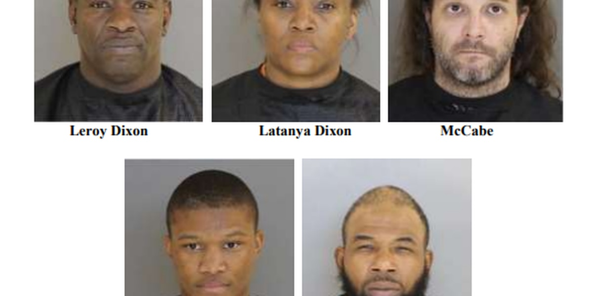 POLICE: 5 arrested in connection to trafficking 500 lbs. of weed in the mail from California to SC