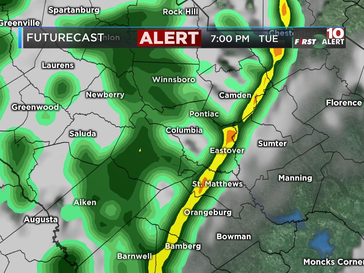 FIRST ALERT: Alert Day Tuesday for scattered thunderstorms, possible gusty winds