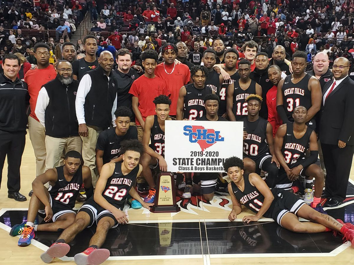 Great Falls holds off Scott's Branch to win Class A boys' basketball title