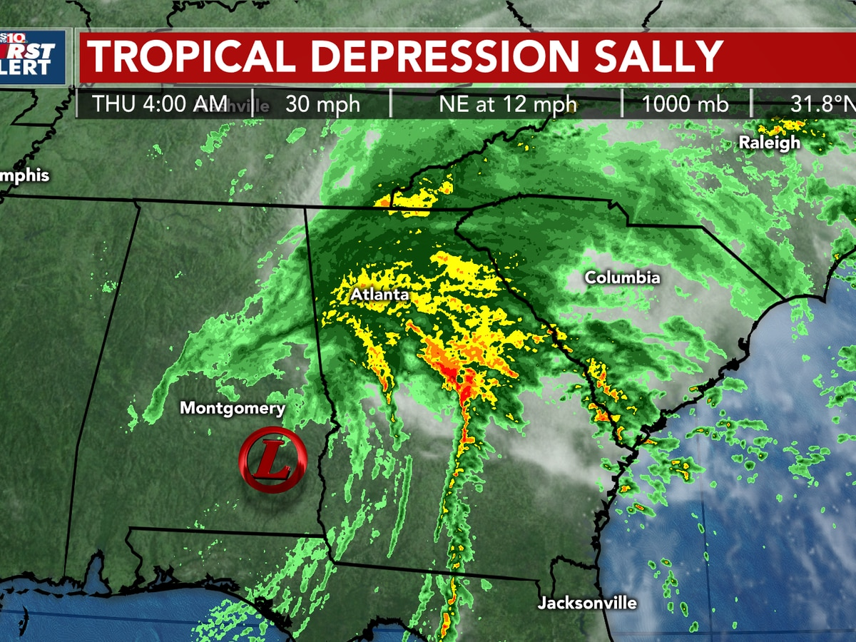 TROPICS: Tropical Depression Sally will impact the Midlands today through early Friday morning with heavy rain, gusty winds, storms & flooding