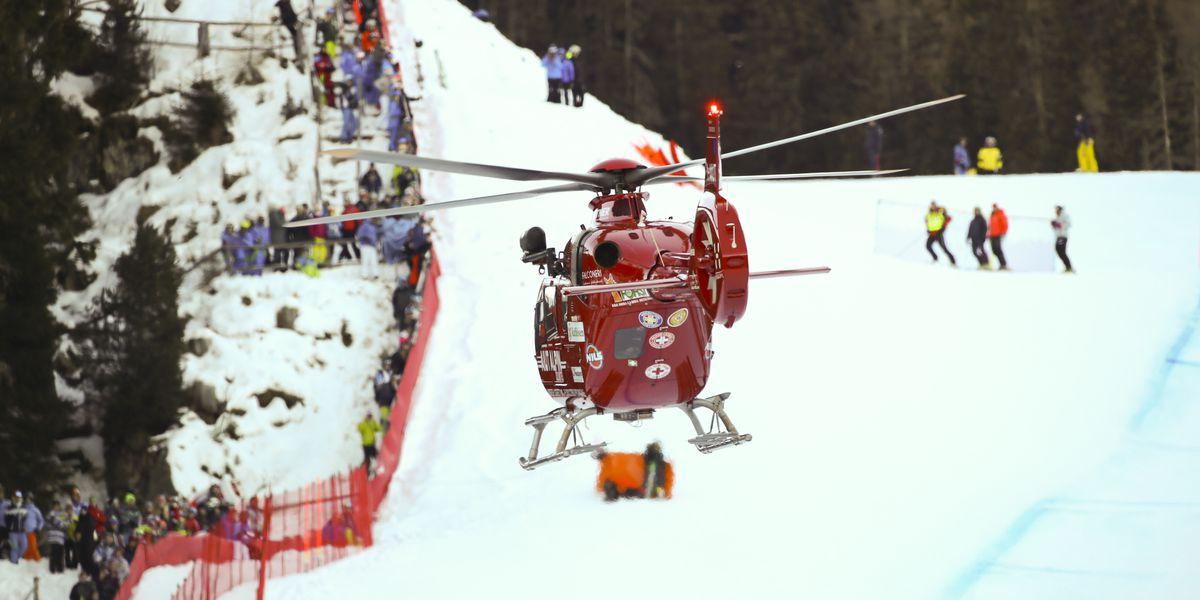 Swiss ski team: No serious injury to Gisin's skull, spine