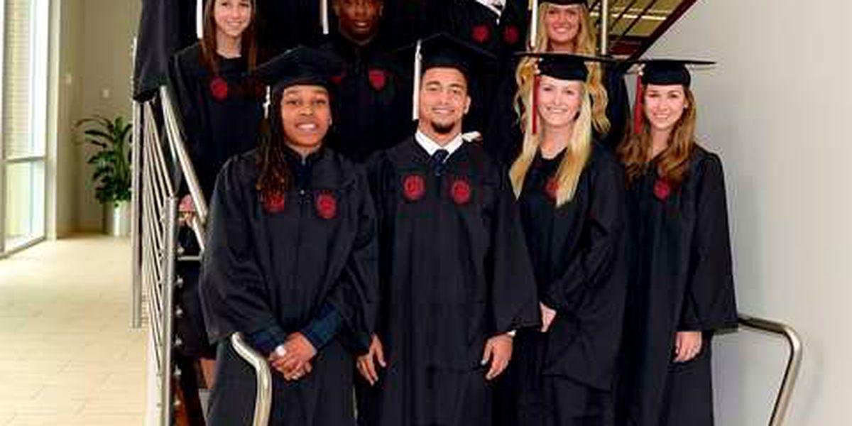 Student-athletes graduate from University of South Carolina Monday
