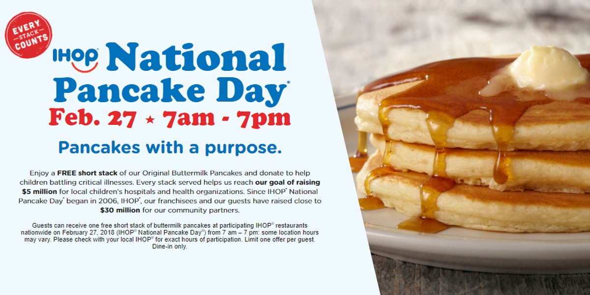 IHOP is giving away free pancakes for a good cause. Here's how you can get them.