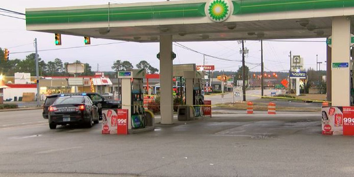 One injured in early morning shooting at gas station