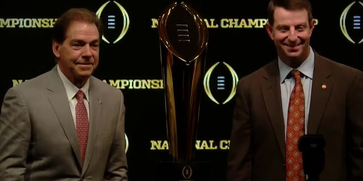 WATCH: Saban, Swinney in Sunday press conference before National Championship