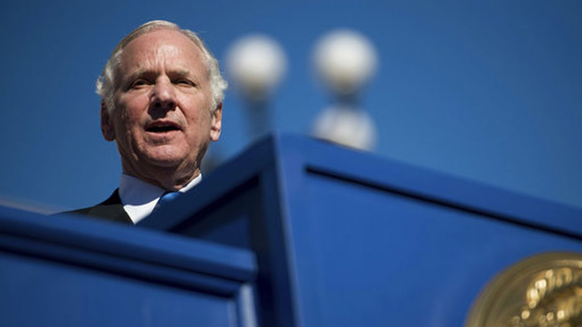 South Carolina Governor Henry McMaster announces a cabinet appointment in Columbia