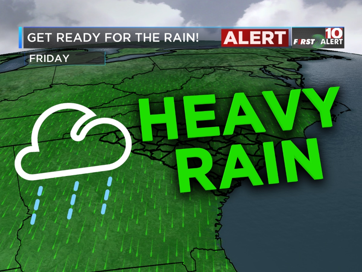 FIRST ALERT: Friday is an Alert Day! We're tracking heavy rain, isolated storms in the Midlands