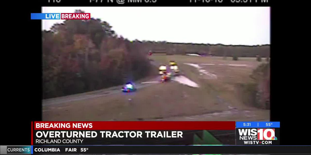 FIRST ALERT TRAFFIC: Overturned tractor on Shop Rd. on-ramp to I-77