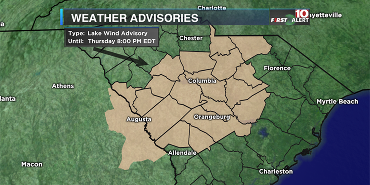FIRST ALERT: Fire danger in effect for much of SC