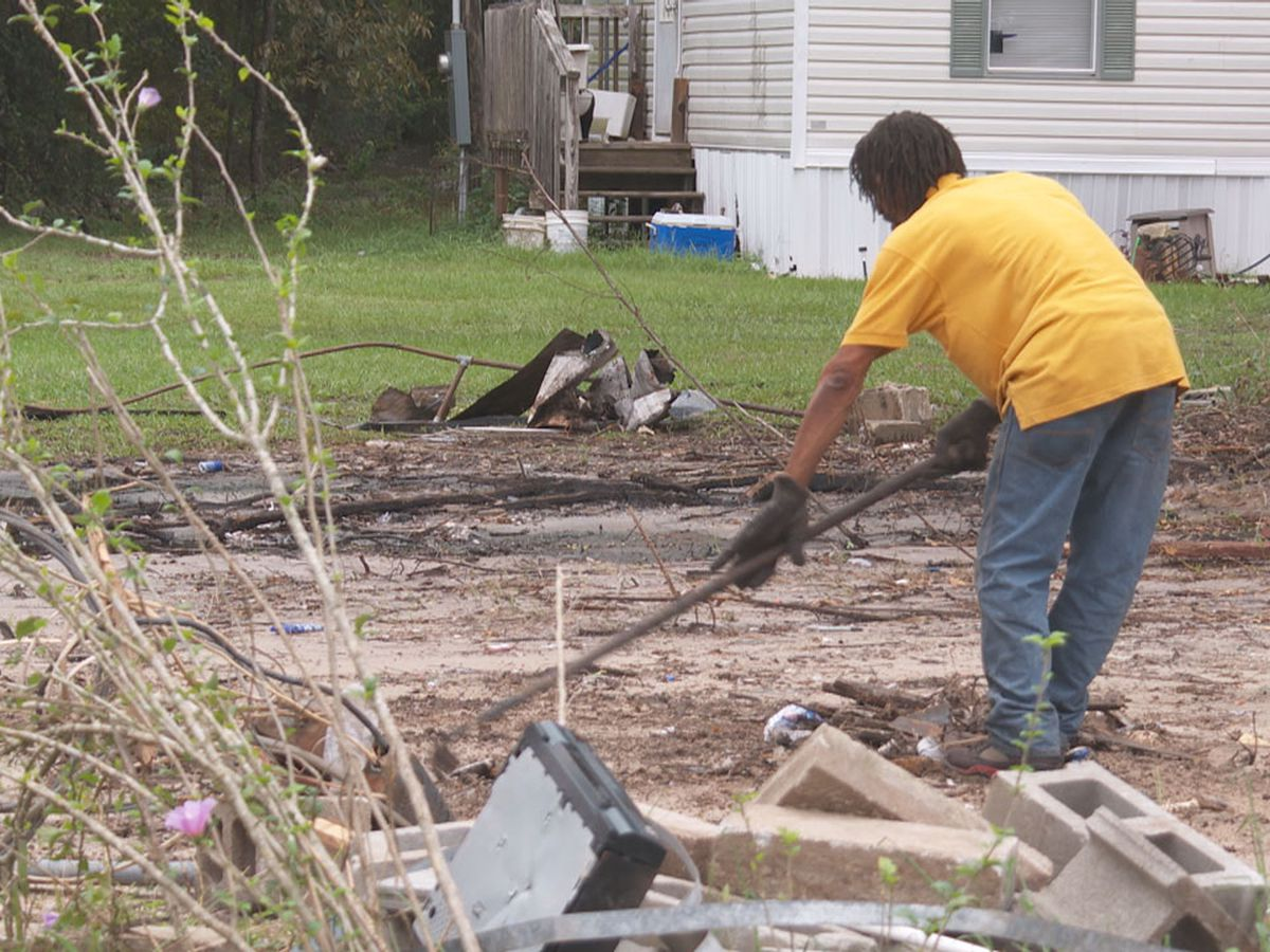 Bowman resident begins clean-up after Thursday flooding